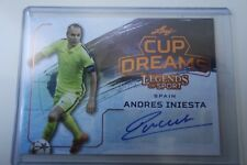 AUTHENTIC AUTOGRAPH  SOCCER LEAF  ANDRES INIESTA SPAIN BARCELONA  2015