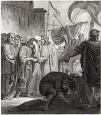 TELEMACHUS AND MENTOR'S DEPARTURE FROM CRETE 1793 John Barlow - Corbould ETCHING