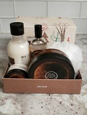 The Body Shop Premium Coconut Collection, 5 Piece Set Plus Shower Sponge New