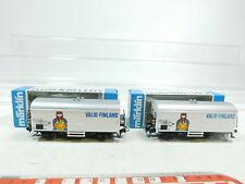 BF112-0,5# 2x Märklin H0 4568 Kühlwagen/Güterwagen Valio-Finland SNCB, NEUW+OVP