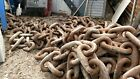 Vintage 20 Links Heavy Duty Wrought Iron  Chain  approximately 40 pound each