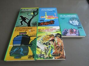 LOT  X5  les six compagnons/ 70/80 _ bibliotheque  verte / TBE