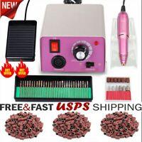 Professional Electri Nail File Acrylic Manicure Pedicure Drill Machine Kit Set