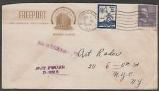 US CHICAGO 3c Prexie EASTER SEAL Freeport Hotel Illustrated Undeliverable 1939