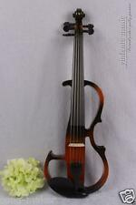 4/4 Electric Violin 5 string Silent Pickup black Fiddle Powerful Sound top #1393