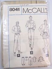 McCall's  sewing pattern no.8041 Men's track pants, shirt size 40