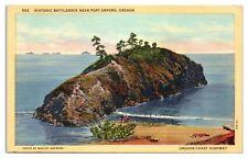 Mid-1900s Battlerock near Port Orford, OR Postcard