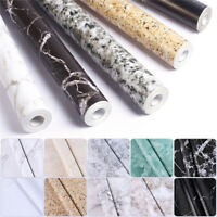 Removable  Marble Vinyl Contact Paper Self Adhesive Wallpaper Home Wall Decor