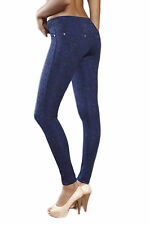Geblümte Damen-Leggings aus Polyester