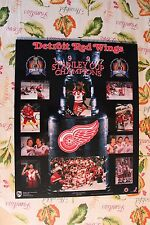 1997 Detroit Red Wings Stanley Cup Champions Wood Plaque