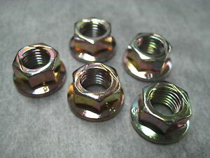 10mm Exhaust Manifold Flange Lock Nuts M10x1.25 - Pack of 5 - Ships Fast!