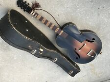 ARCHTOP GUITAR HARMONY KAY USA OLD SCHOOL PARTS REPAIR DAMAGE GEIB CASE PROJECT