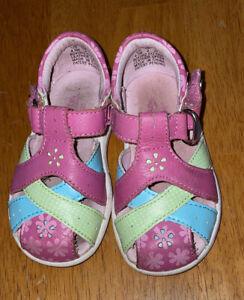 Stride Rite InfantToddler Girls  Multicolor Shoes /Sandals Size 4.5 M