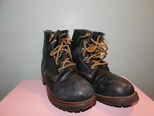 RARE Women's Black Leather Logger Style Boots By Sketchers Size 9 1/2 (used)