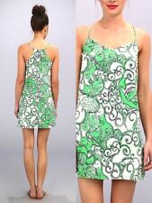 NWT LILLY PULITZER L SILK DUSK DRESS GO GO GREEN SHAPE UP OR SHIP OUT RARE