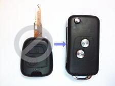 Remote Folding Key Flip Shell Case Uncut Blank For Peugeot 106 205 206 306 405