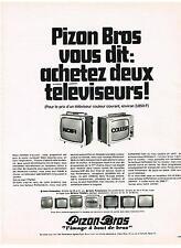 PUBLICITE  1969   PIZON BROS  téléviseurs
