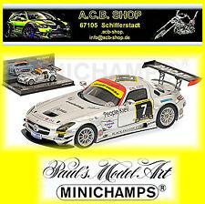 Mercedes Benz SLS AMG GT3 Equipo Negro Falcon 24h Dubai 2011 #7 1:43 Minichamps