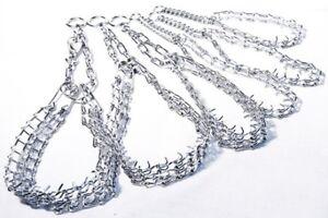 Metal , Chrome, Half Prong Collar, Stop Pulling Choking Chain Champion Training