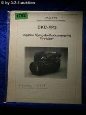 Sony Bedienungsanleitung DKC FP3 Digitale Spiegelreflexkamera (#1792)