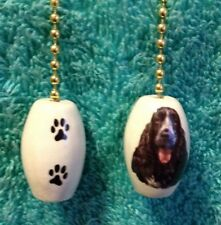 """One English Cocker Spaniel Dog Fan Pull With Paw Prints On The Back 1"""""""