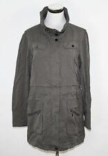 ESPRIT COLLECTION Jacke Parka Mantel Tencel Suit taupe grau Gr. 34 *UVP 129,95€