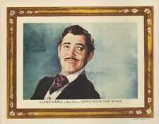 GONE WITH THE WIND, original 1939 Roadshow Lobby Card, mint CLARK GABLE Portrait
