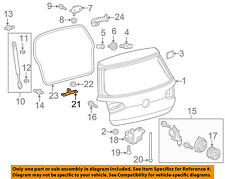 VW VOLKSWAGEN OEM Golf Liftgate Tail Tailgate Trunk-Lock Striker 5G0827517D