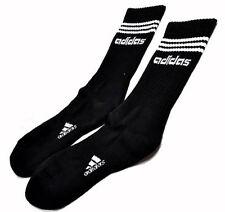 Adidas 3 Stripes Socks Black Sport Business Running School Tennis Soccer Work