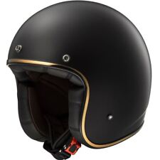 LS2 OF583 Bobber Fibreglass Open Face Motorcycle Scooter Crash Helmet Jet Matt