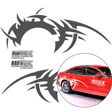Wheel On Fire 2x Gray Race Car Stickers Rear Tire Flaring Flame Decals Universal