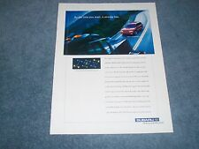 "1999 Subaru Legacy Wagon Vintage Ad ""By the Time You React, It Already Has."""