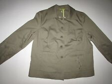 Sigrid Olsen Women's Blazer Jacket Size 14 Petite Long Sleeves Safari Green