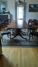 d9cd99a0632 ANTIQUE DUNCAN PHYFE TABLE AND 6 CHAIRS, MAHOGANY, 1940S