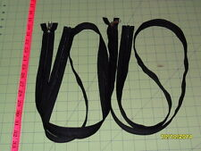 "60"" YKK Nylon Coil SEPARATING Zipper (Black in Color) - Lot of 2"