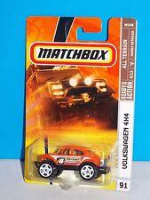 Matchbox 2008 All Terrain Series #91 Volkswagen 4x4 Orange Baja Bug