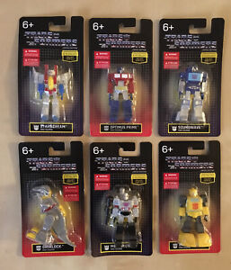 6 Transformers G1 Mini figures Limited Edition Optimus Prime Bumbleebee Megatron
