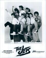 1986 Press Photo 1980s R&B Family Band The Jets High Stepping Sneakers