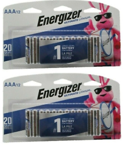 24 Energizer Ultimate Lithium AAA - EXPIRE 2040 or Better - NEW - FACTORY SEALED