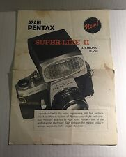 Vintage Asahi Pentax Super-Lite II Electronic Camera Flash - Retail Brochure