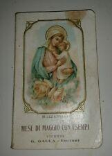 """Libretto Sacro """" Mese di maggio con esempi"""" G.Galla editore"""