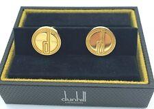 "Dunhill Redondo Grabado ""D"" oro plateado plata esterlina 925 Regalo de gemelos para hombre"