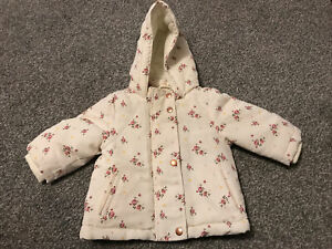 Primark Baby Girls Age 3-6 Months Thick Floral Coat