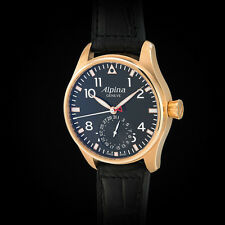 "Alpina 18K Solid Rose Gold ""Startimer"" Big Pilot Manufacture Movement. Ltd Ed."
