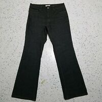 Coldwater Creek Women's Denim Jeans ~ Sz 12 ~ Light Black ~ Straight Leg