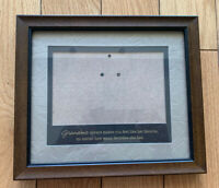 Picture Frame Wood Dark Color Perfect Condition Under Glass 9.5x8,5.6x3,6 Inches