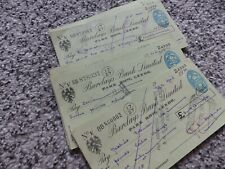More details for collection of 41 vintage barclays bank cheques, park row leeds, 1955/56 jz
