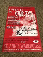 "Stop The Virgens Off Broadway Original 14x22"" Window Card"