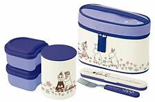 NEW Skater Moomin Thermal Lunch box Bento Bowl container set Keep warm Japan F/S