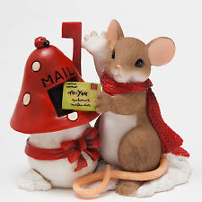 Charming Tails Mouse Mailing Holiday Letter Figure Enesco 4046944 Christmas New